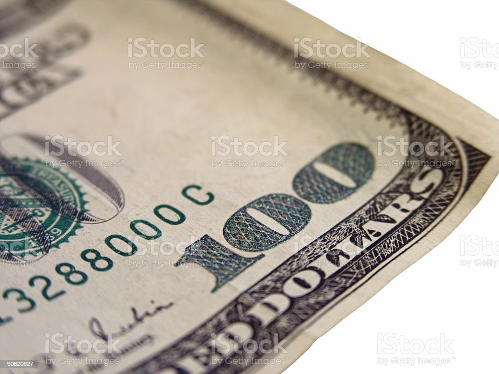 Currency - One Hundred Dollars royalty-free stock photo