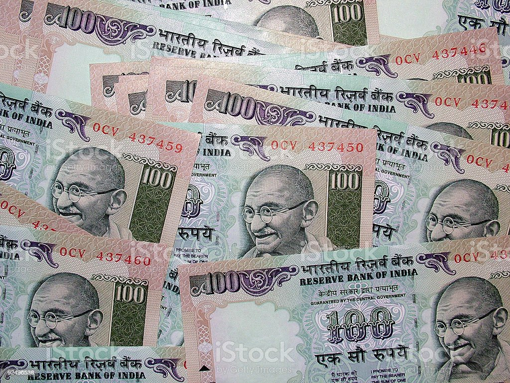 Currency (Indian) royalty-free stock photo