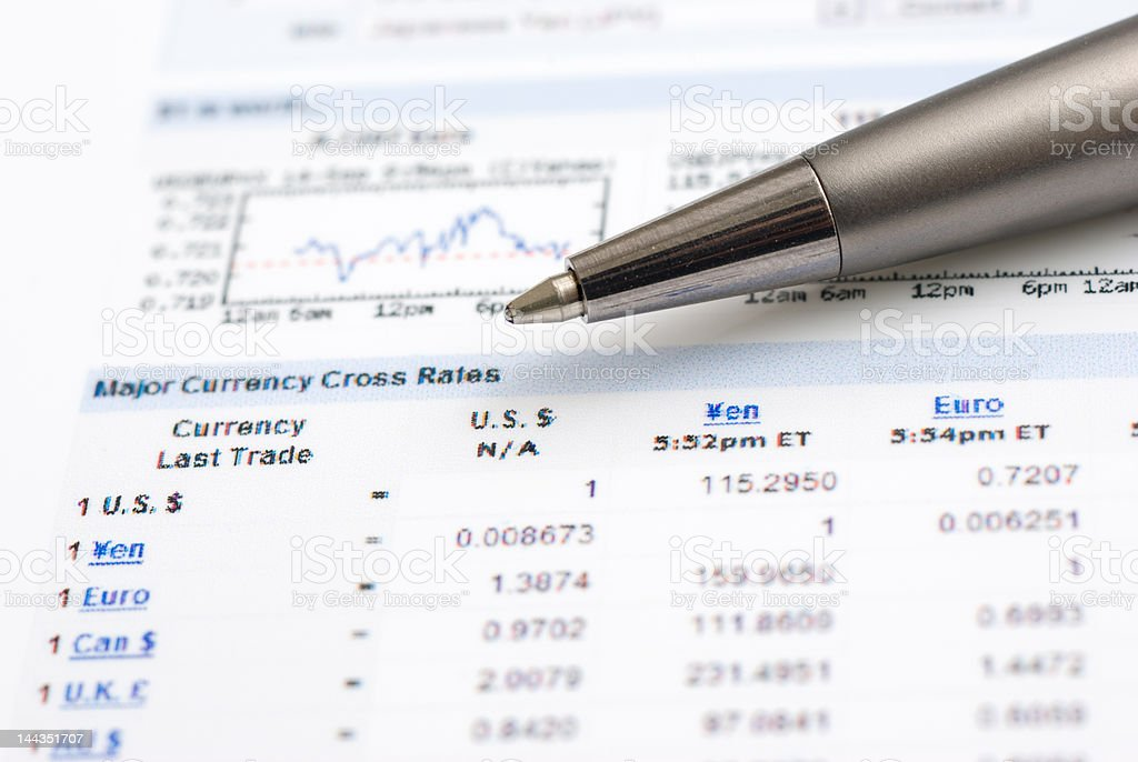 Currency Rates royalty-free stock photo