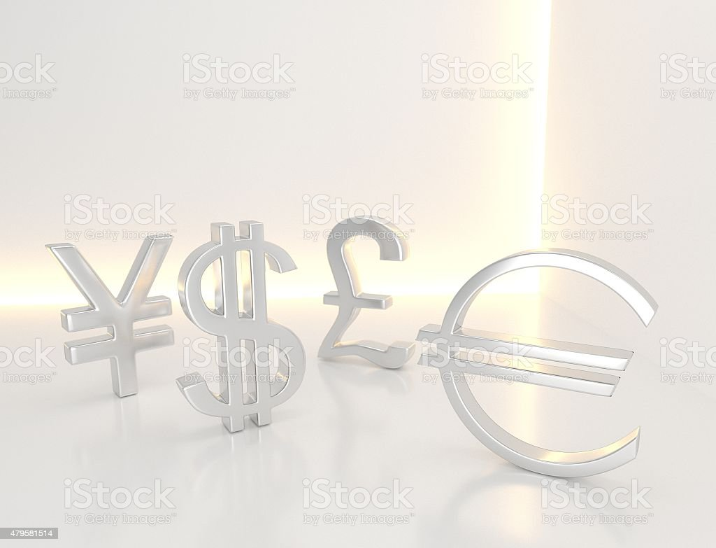Currency sign stock photo