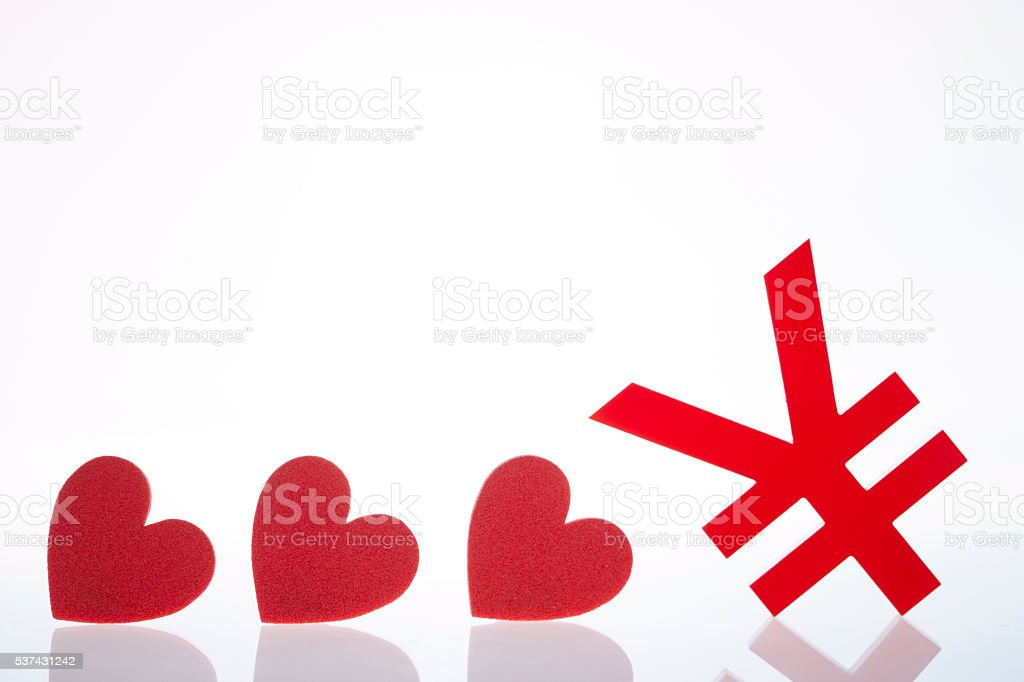 Currency Symbol And Heart Stock Photo Istock