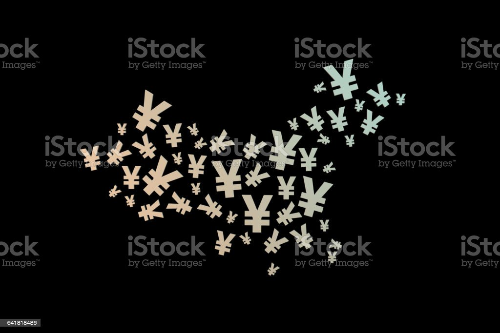 Currency symbol of the map stock photo