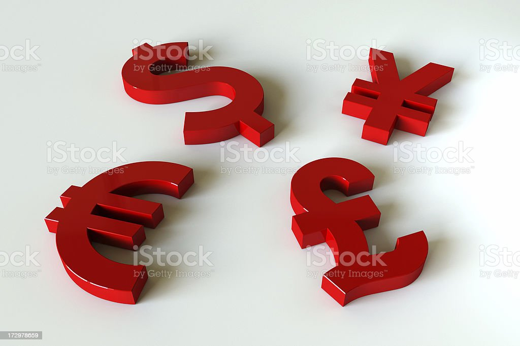 Currency symbol royalty-free stock photo