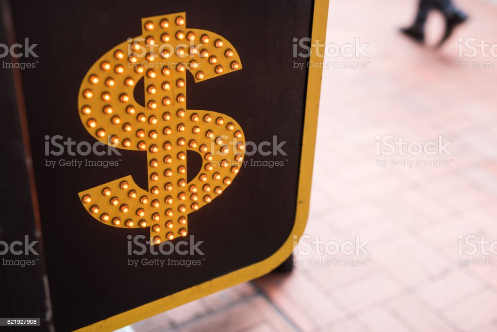 Currency symbols and sign stock photo