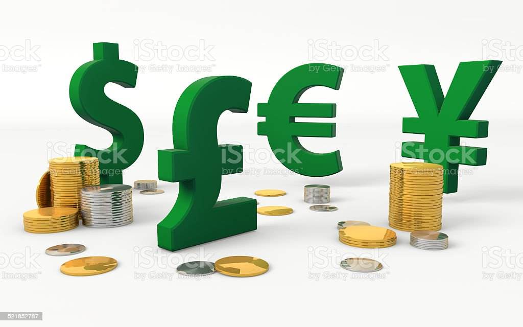 Currency Symbols Dollar Pound Euro Yen Stock Photo More Pictures