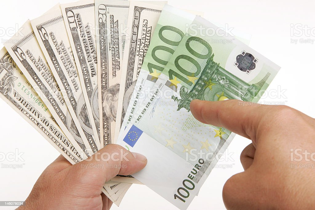 Currency trend royalty-free stock photo