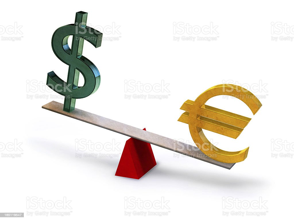 Currency unbalance stock photo