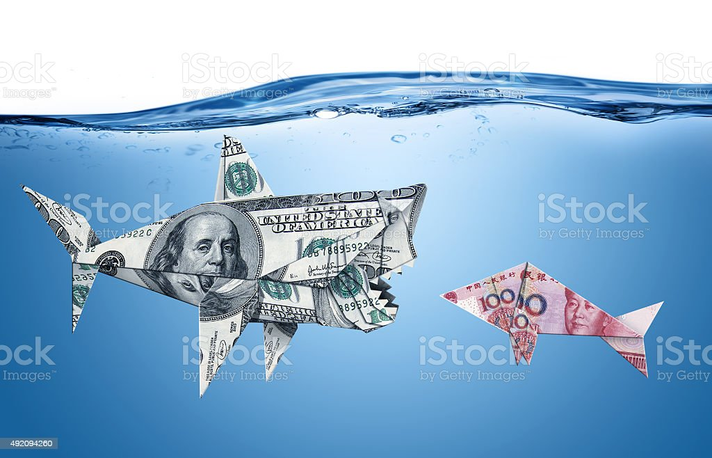 Currency war stock photo
