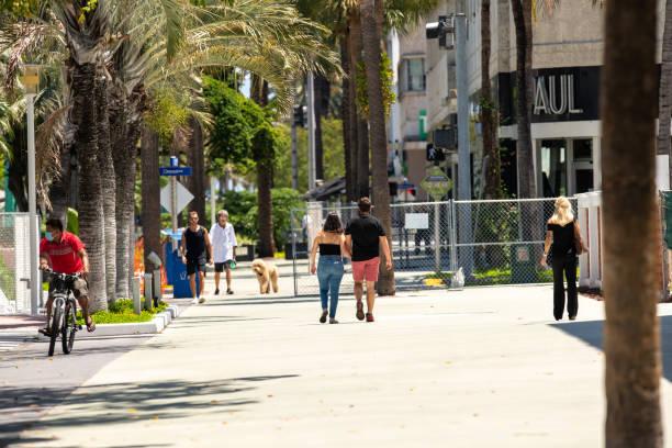 Current Miami Beach scene after Coronavirus Covid 19 shut down