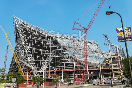 Current Progress Of Minnesota Vikings Us Bank Stadium
