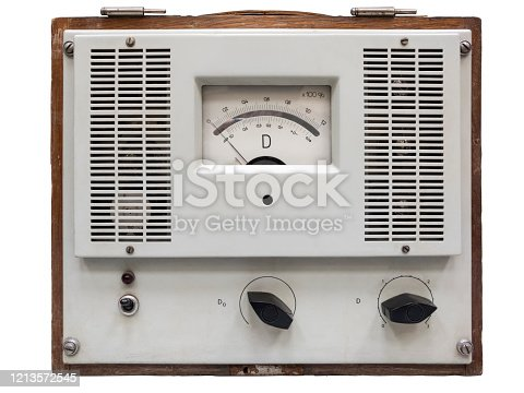 DC Current-Measuring Amplifier device in wooden case