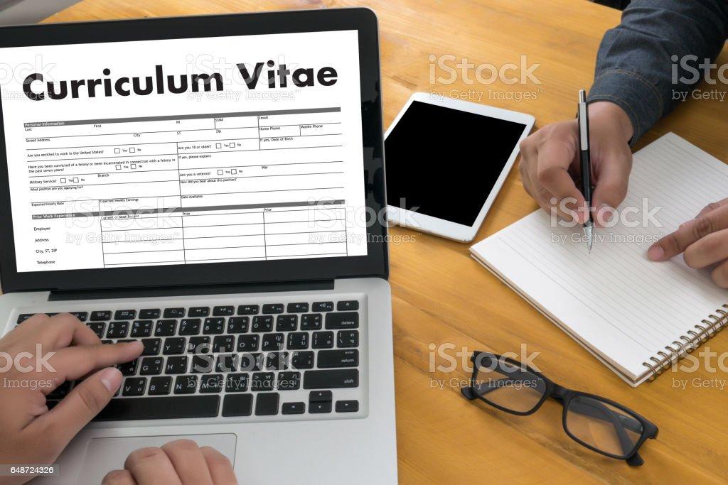 cv curriculum vitae business office businessman working