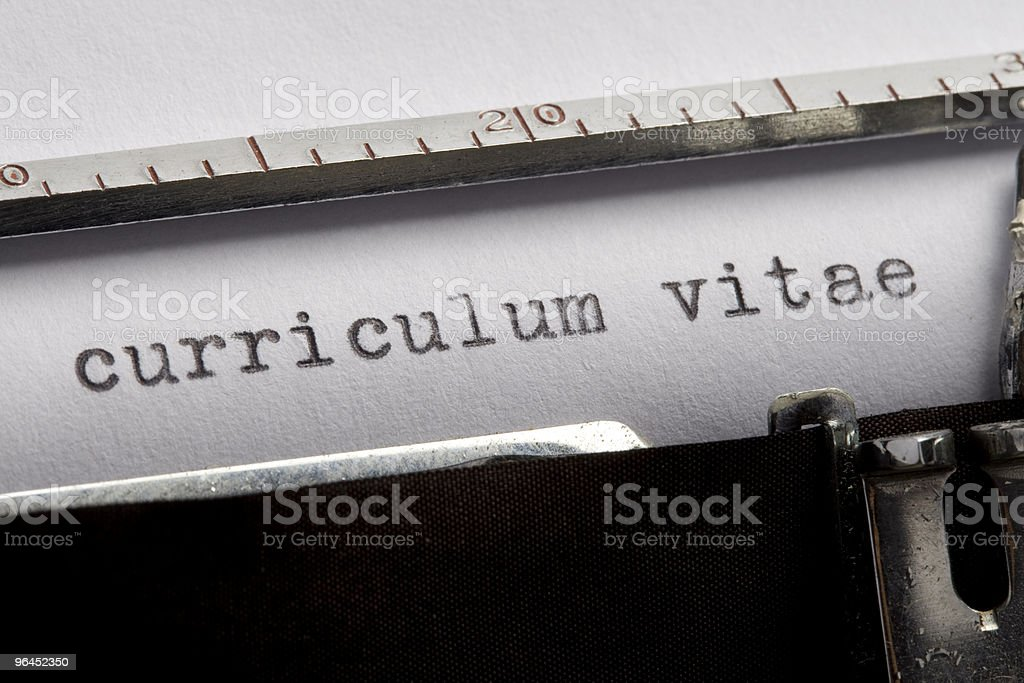 Curriculum Vitae - Resume royalty-free stock photo
