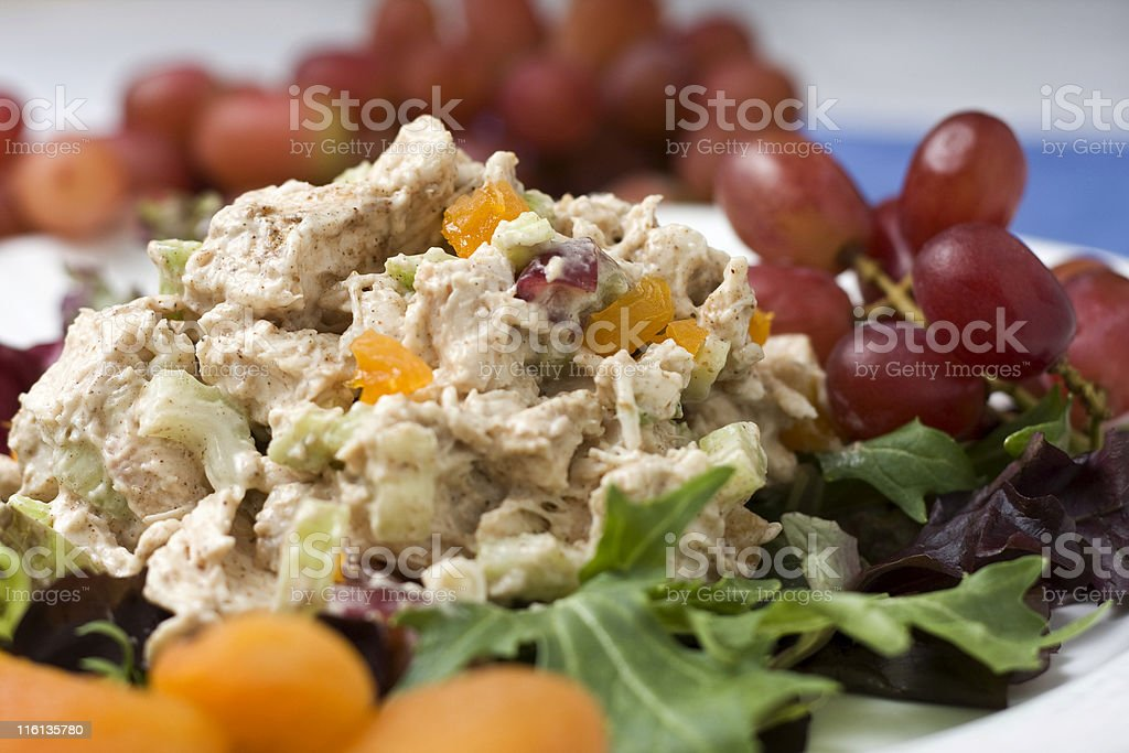 Curried Chicken Salad stock photo