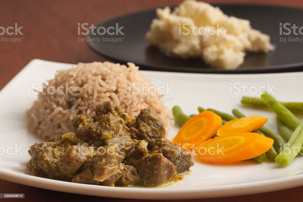 Curried Goat stock photo