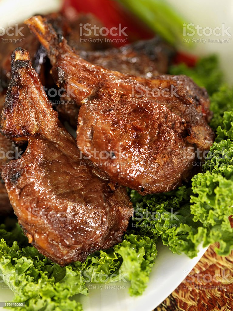 Curried Lamb Chops royalty-free stock photo