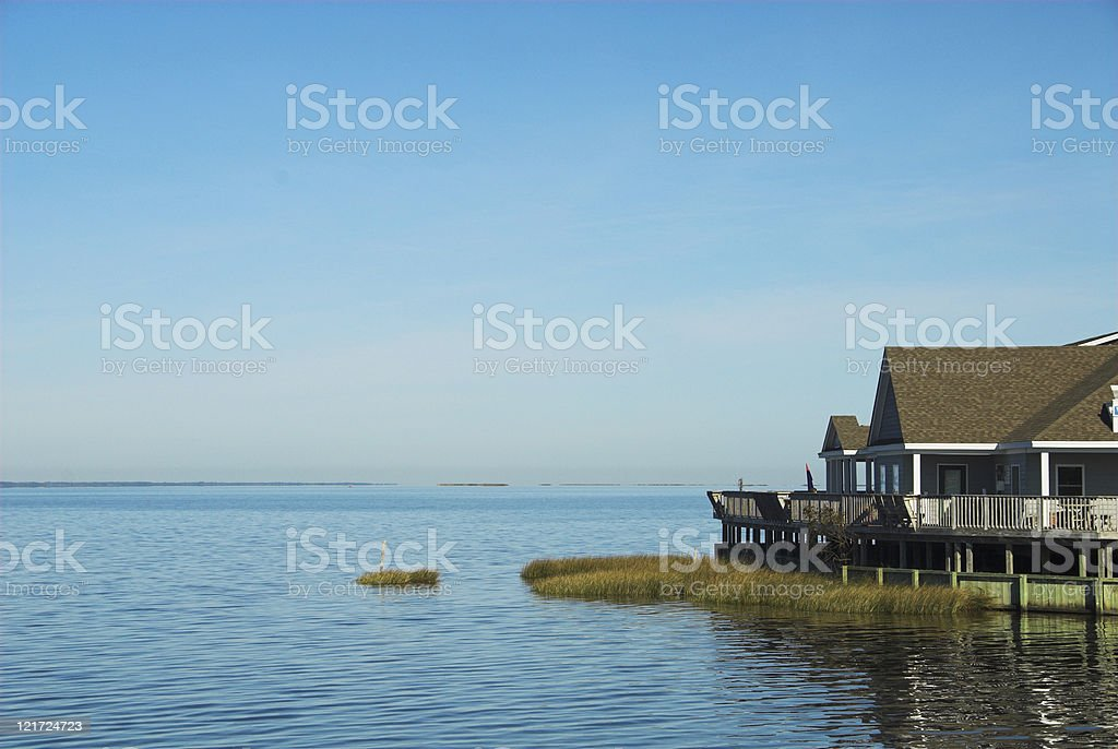 Currituck Sound stock photo