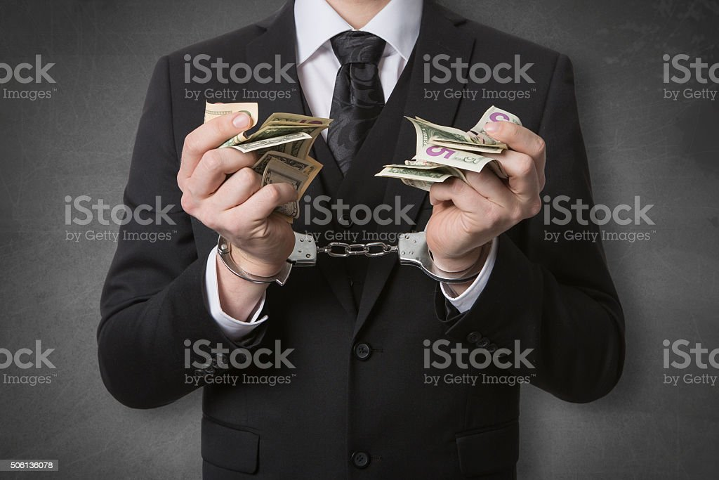 currupted business black board stock photo