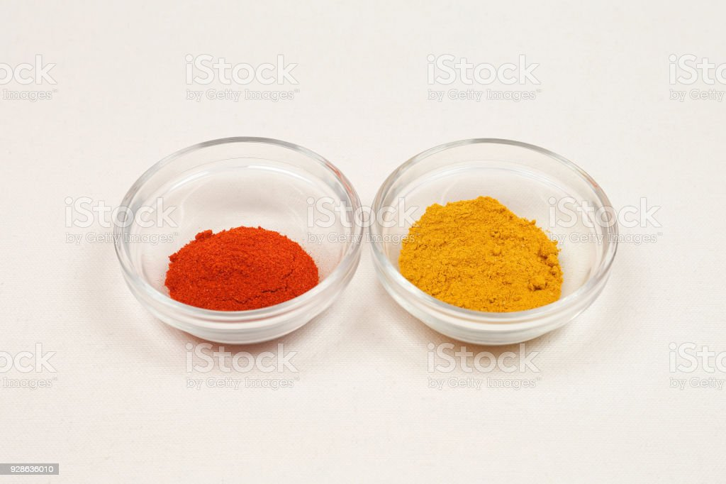 Curry and Paprika stock photo