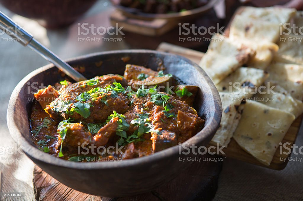 Curry and Rooti stock photo