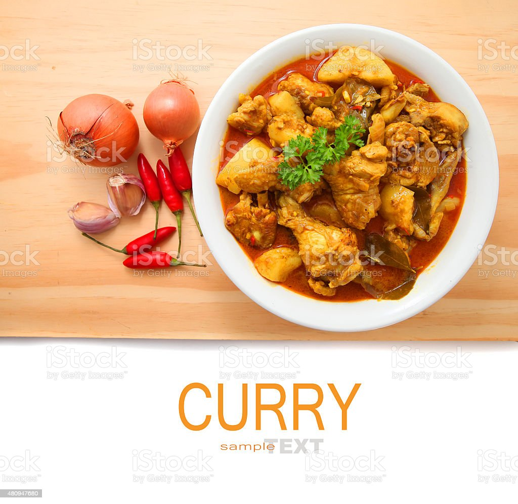 Curry Chicken stock photo