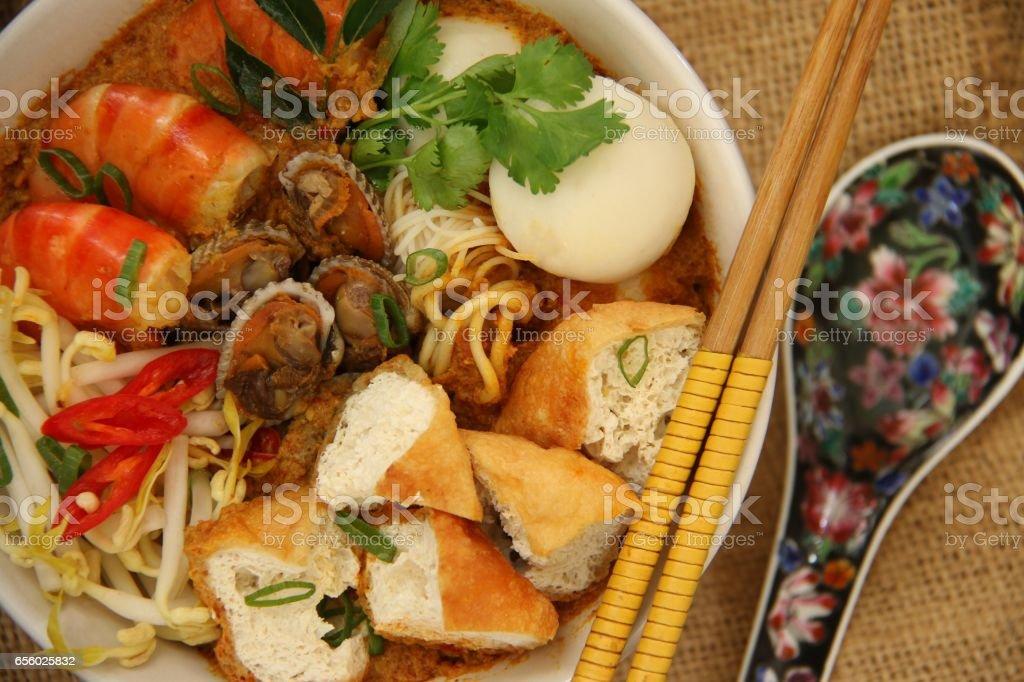 Curry Laksa stock photo