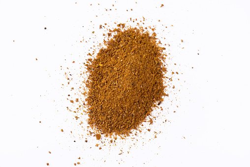 Curry Powder Isolated On White Stock Photo - Download Image Now