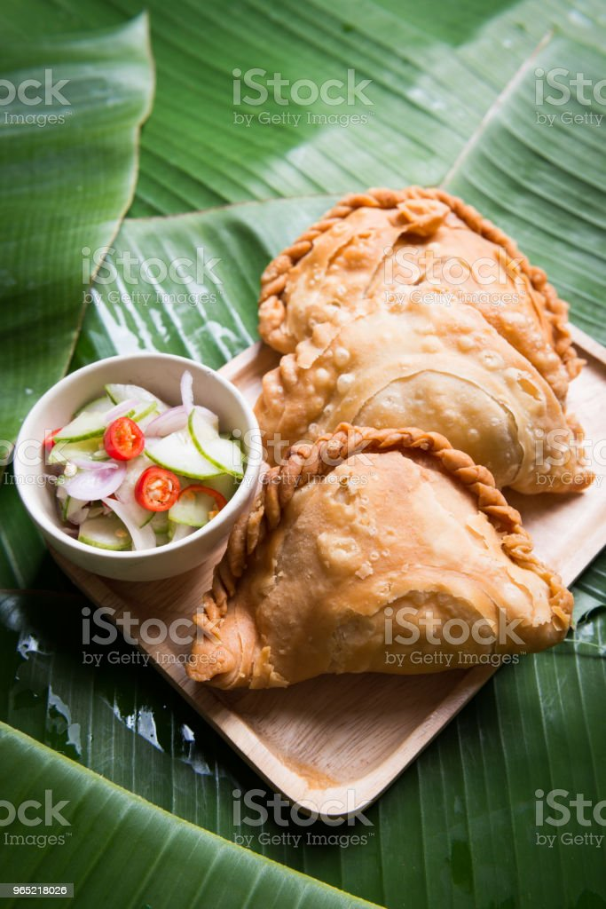 curry puff stuffed chicken royalty-free stock photo