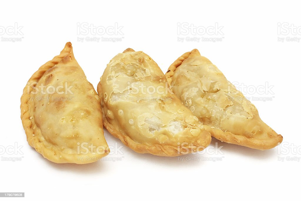 Curry Puffs stock photo