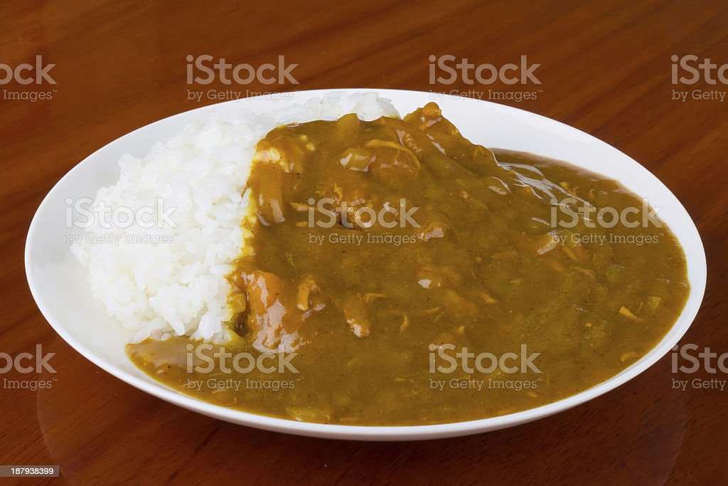 curry rice royalty-free stock photo