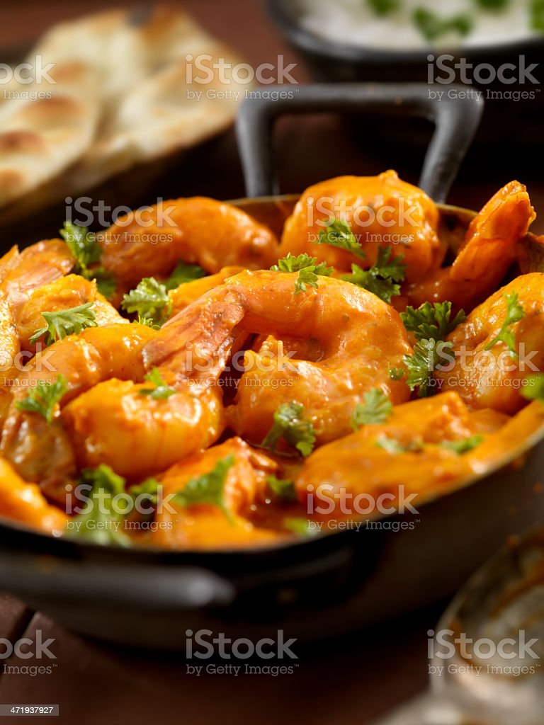 Curry Shrimp royalty-free stock photo