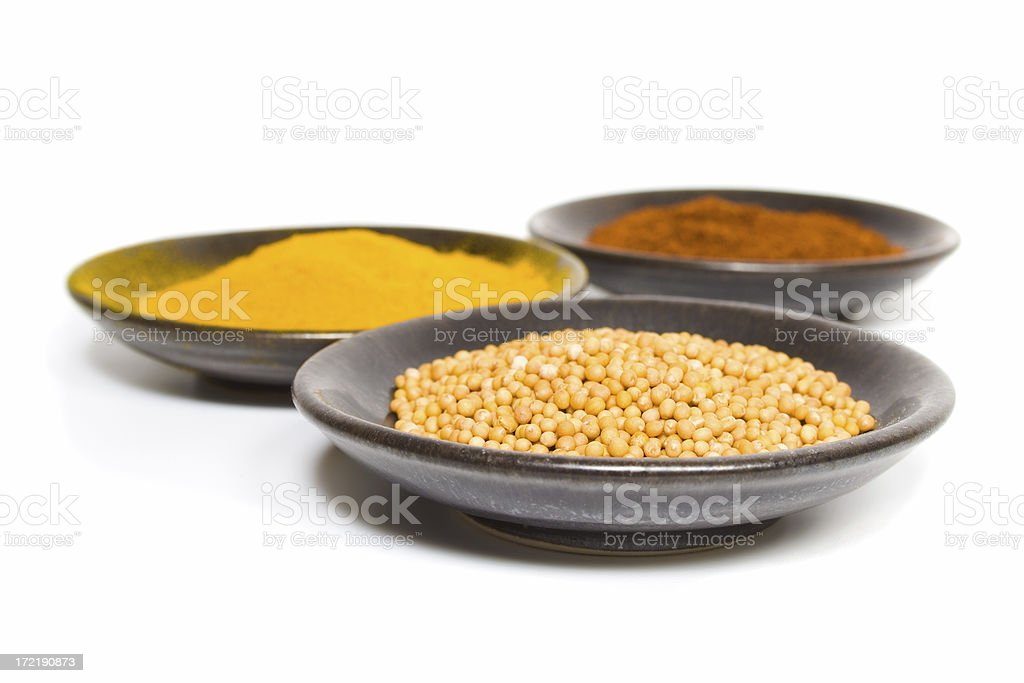 Curry Spices - Mustard Seeds royalty-free stock photo