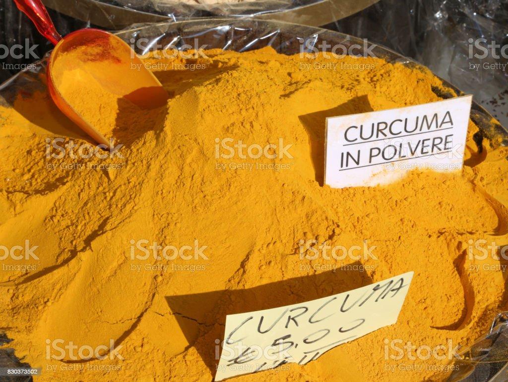 offerta speciale offerte esclusive più foto Polvo De La Cúrcuma Del Curry Con Escritura En Italiano Curcuma En ...