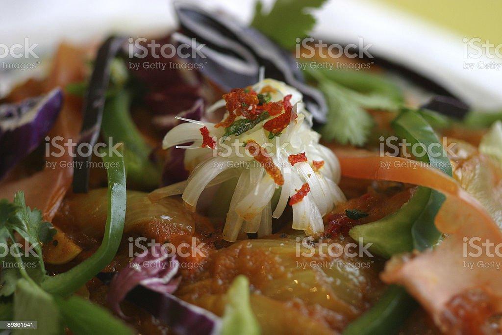 Curry z ozdobnymi warzyw zbiór zdjęć royalty-free
