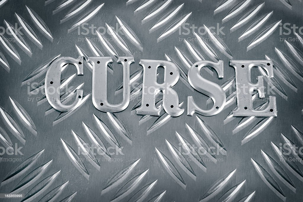Curse - Metal Letters royalty-free stock photo