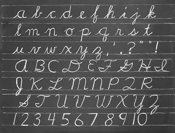 Kursiv alphabet – Foto