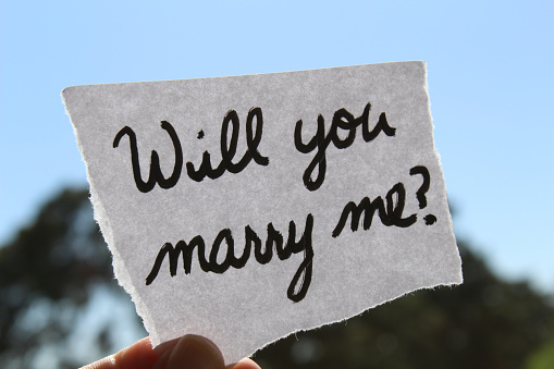 Love not proposal will you marry me