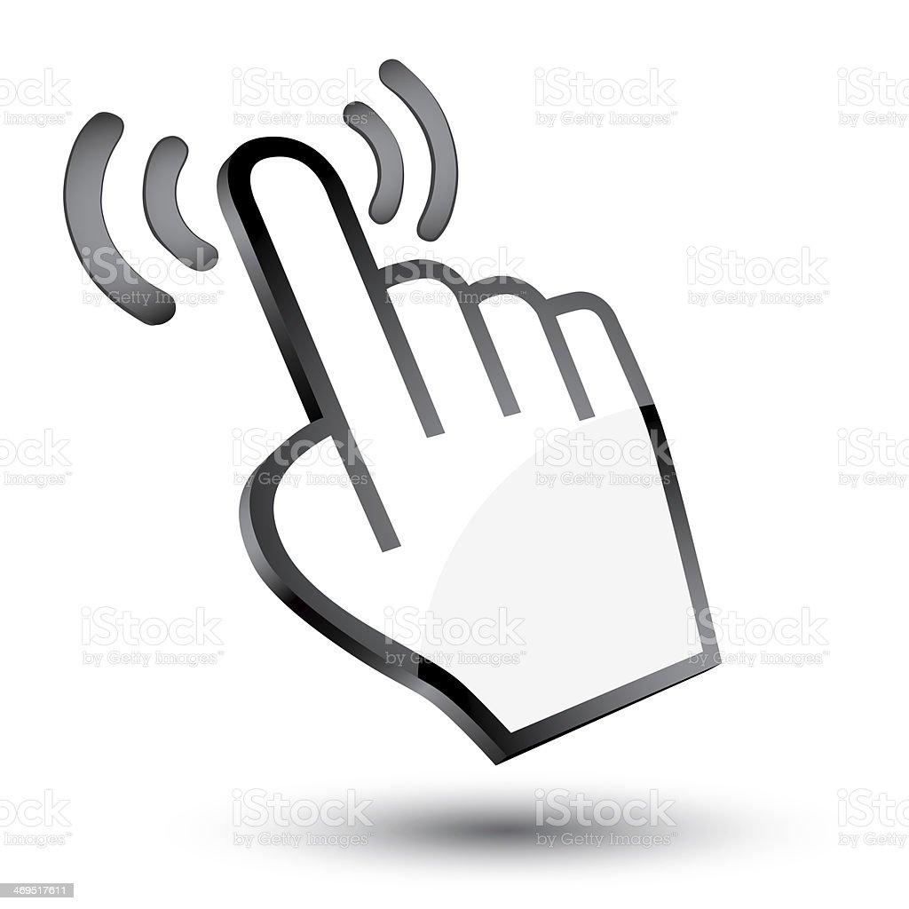 cursor hand 3d icon stock photo