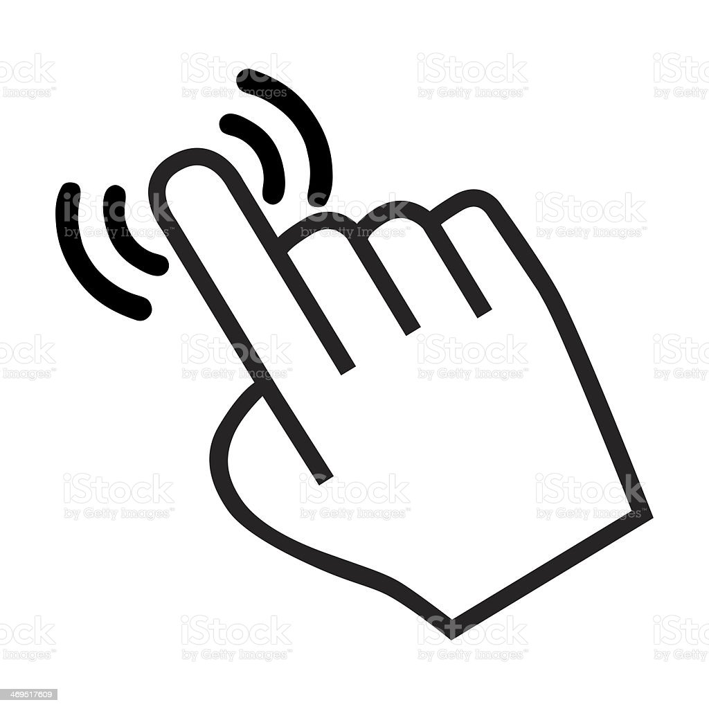 cursor hand icon stock photo