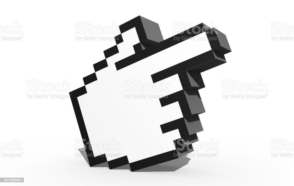 3D Cursor icon stock photo