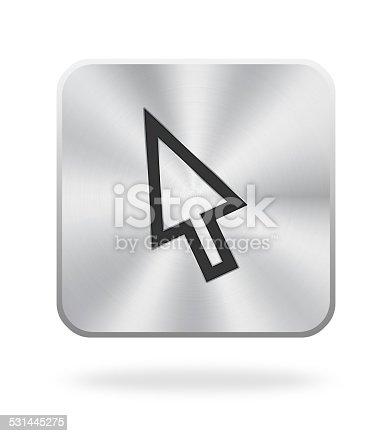 istock Cursor Icon With Metal Texture 531445275