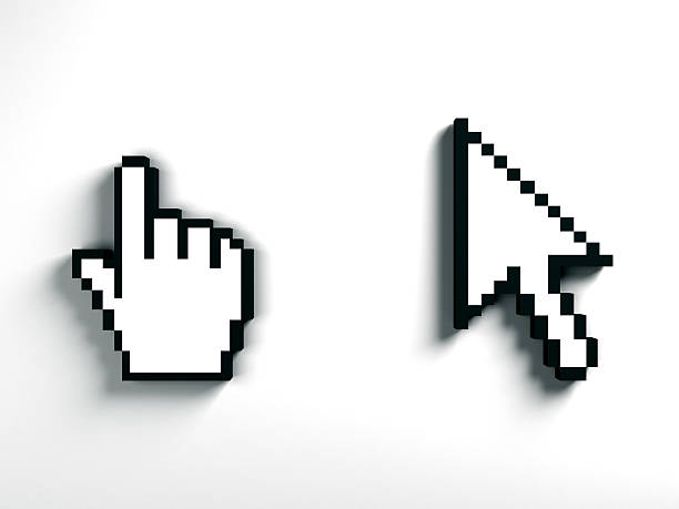Cursor set stock photo
