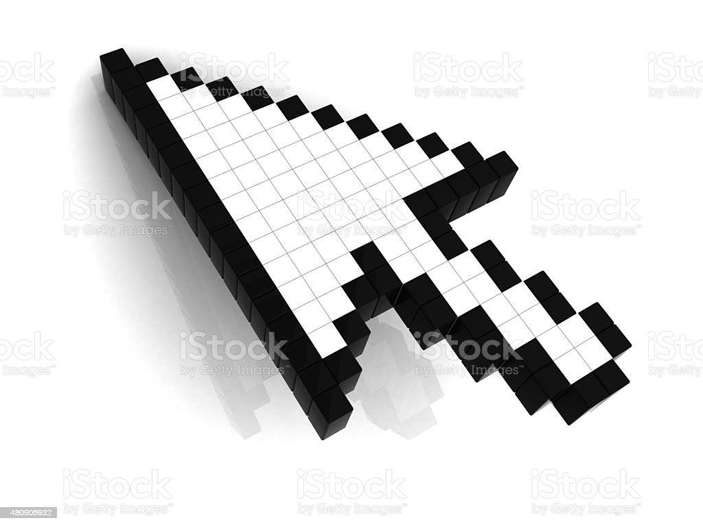 Cursor with reflection stock photo