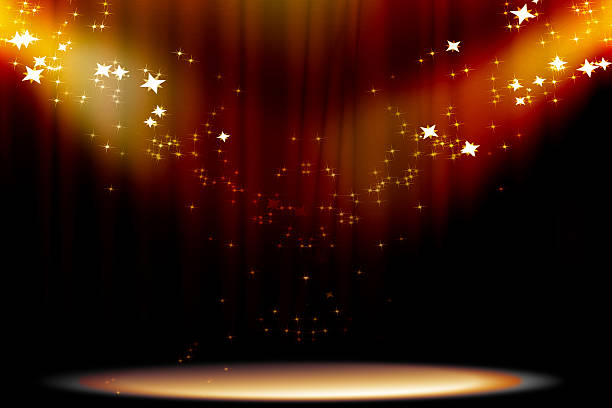 curtain background - awards ceremony stock photos and pictures