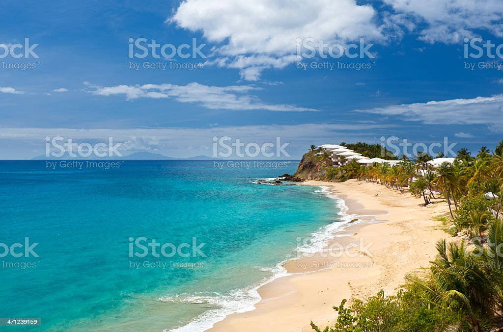 Curtain Bluff Beach, Antigua stock photo