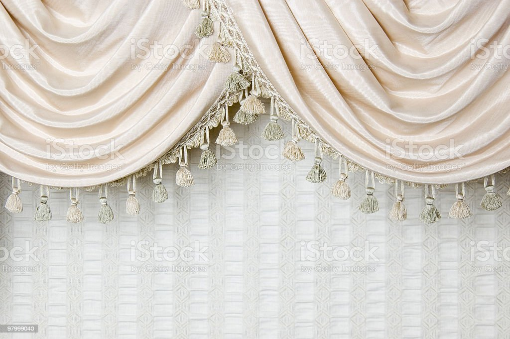 Curtain Detail royalty-free stock photo