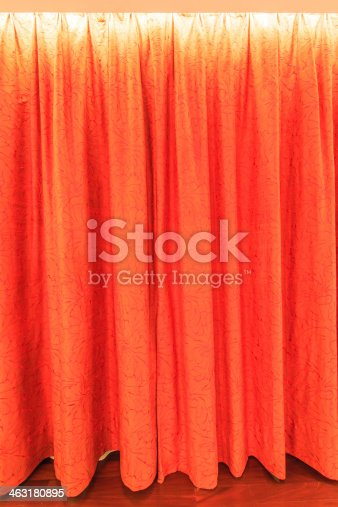 istock Curtain for background texture 463180895