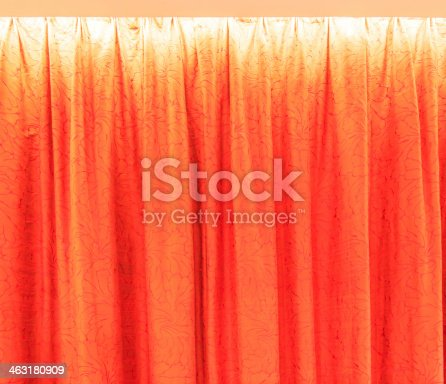 istock Curtain for background texture 463180909