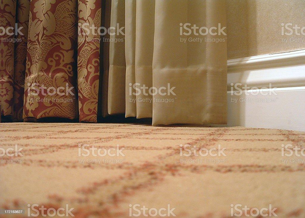 Curtain Hems stock photo