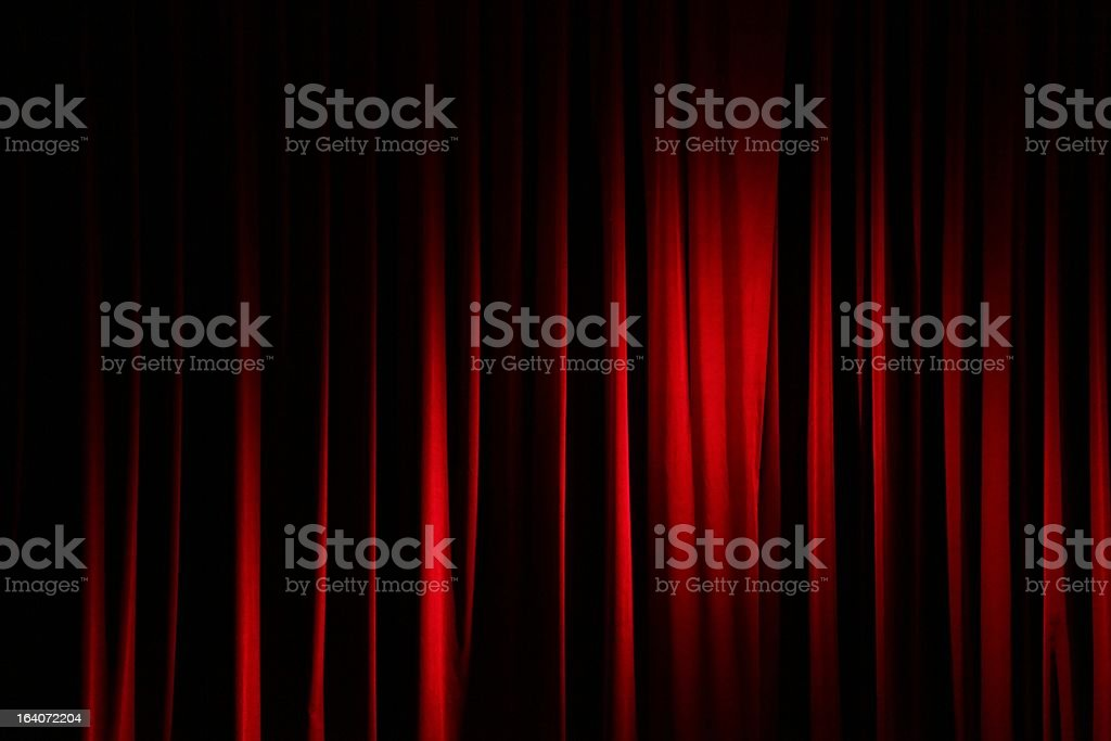 Curtain in a theatre royalty-free stock photo